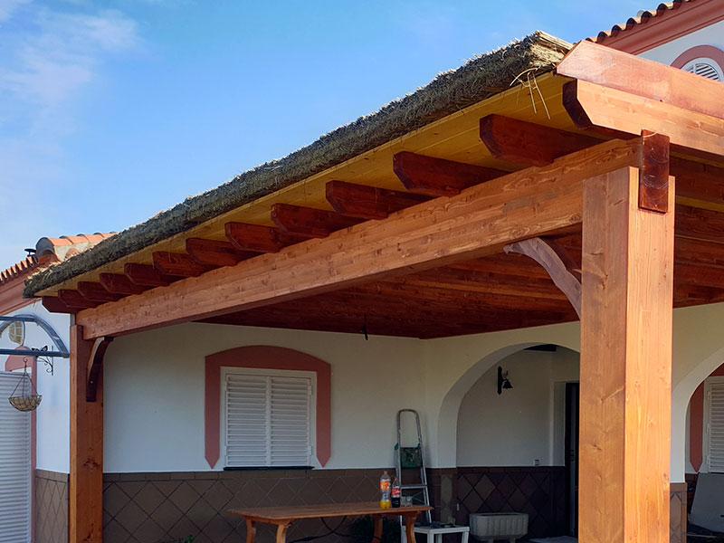 estructura madera con berzo