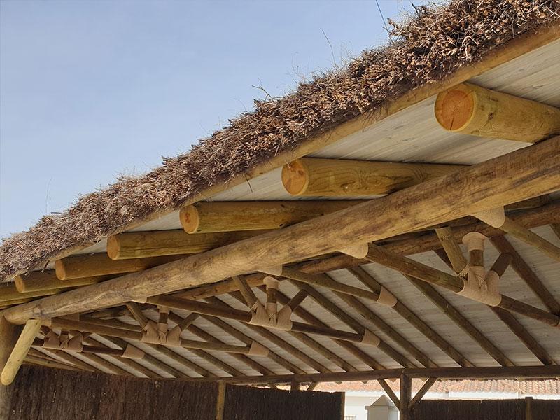 estructura madera con brezo